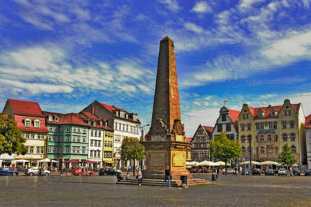 gabled house: Erfurt Cathedral Square