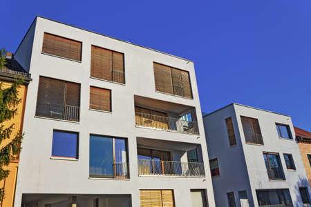 multifamily: Energy-efficient house Stock Photo