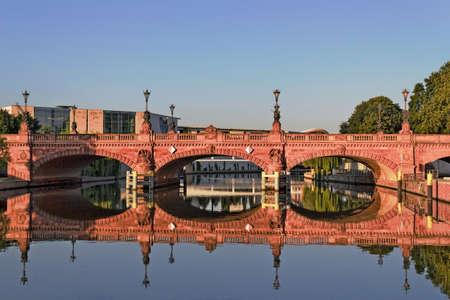 town idyll: Berlin Moltke Bridge Stock Photo