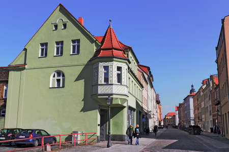 gabled houses: Luther City Wittenberg Stock Photo