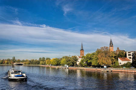 inland waterways: Berlin Koepenick Editorial