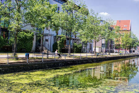living idyll: Duisburg Stock Photo