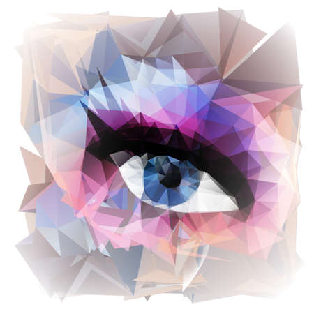 abstract eye: Abstract woman eye  created from polygons