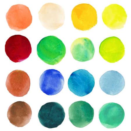 aquarel vlekken Cirkels op het papier Stock Illustratie