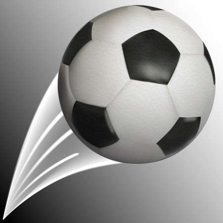 soccerball: soccer ball with trace