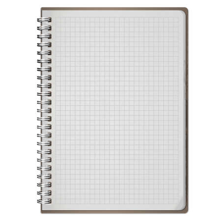 pocketbook: blank realistic spiral notepad notebook isolated on white