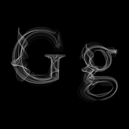 Letter G illustration alphabet Reklamní fotografie - 33718200
