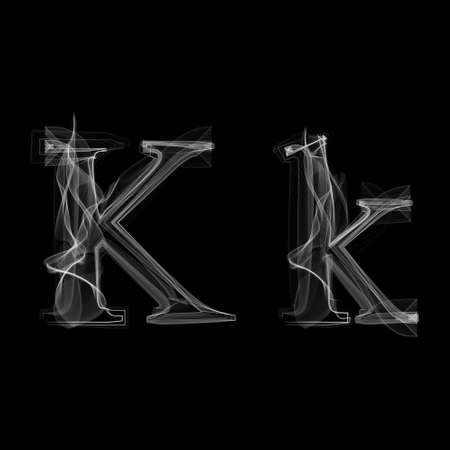 black smoke: Letter K illustration alphabet