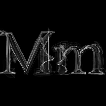Letter M illustratie alfabet