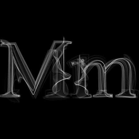 Letter M illustration alphabet Çizim