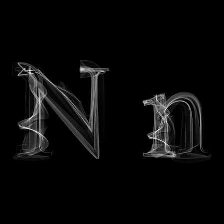 Letter N illustratie alfabet Stock Illustratie