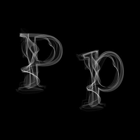 Letter P illustration alphabet