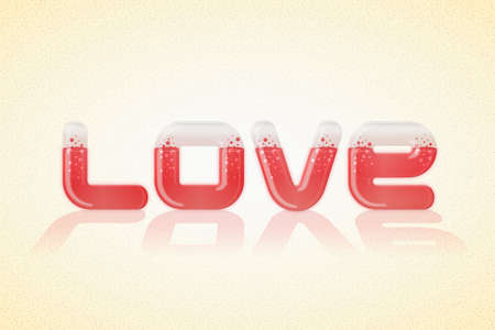 mooie achtergrond: Love poster over nice background. Vector illustration
