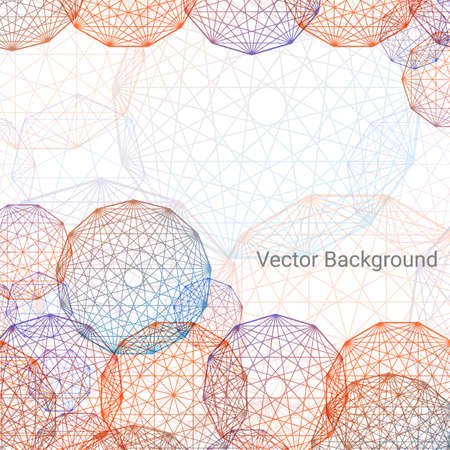 concentric: Concentric round pattern on white background. Circles,  vector background