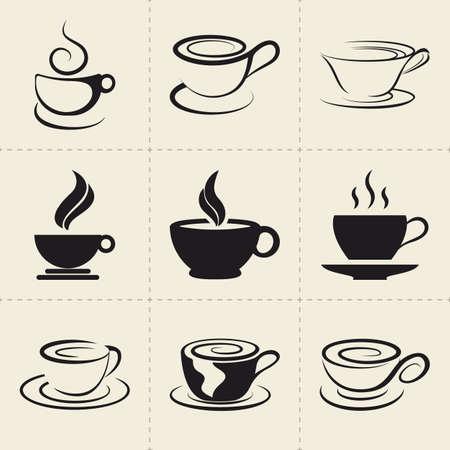 Coffee icons set 일러스트