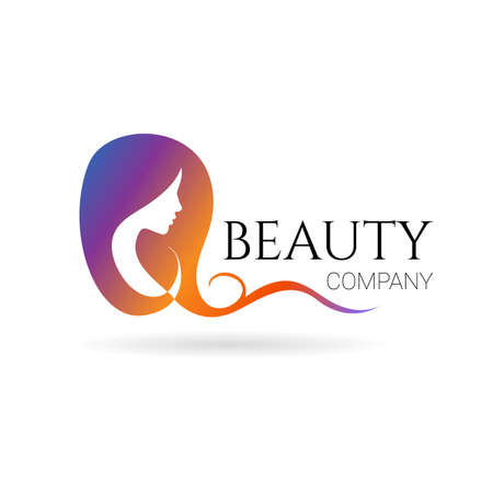 Beauty with female face on white background. Vector 일러스트