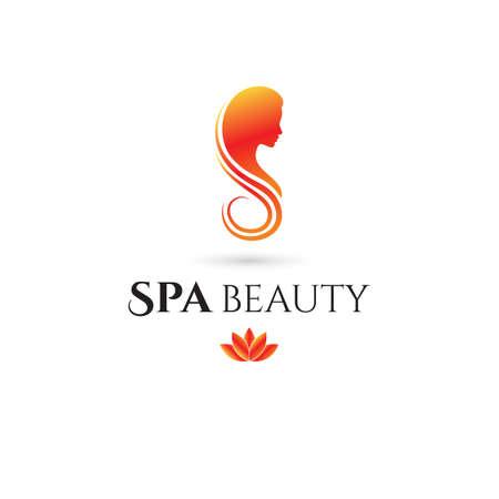 Spa en Beauty bedrijfslogo. vector illustratie