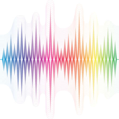 soundtrack: Abstract music rainbow equalizer on white background.