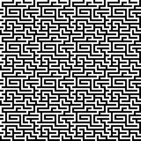 The Maze Labyrinth Pattern Endless Seamless Vector Royalty Free Extraordinary Labyrinth Pattern