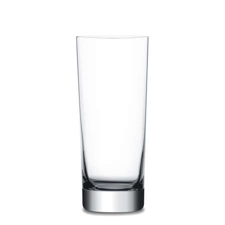glass cup: Realistic empty glass, vector illustration on white background