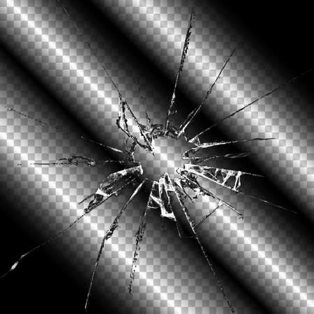 Realistic transparent broken glass seamless vector illustration