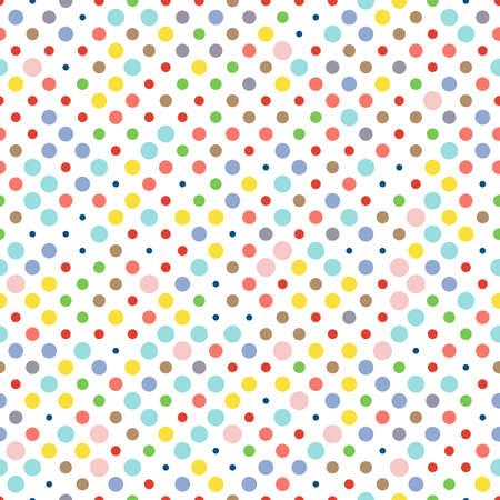 Naadloos een stippel patroon, polka dot stof, de kleuren van modetrends. Stock Illustratie