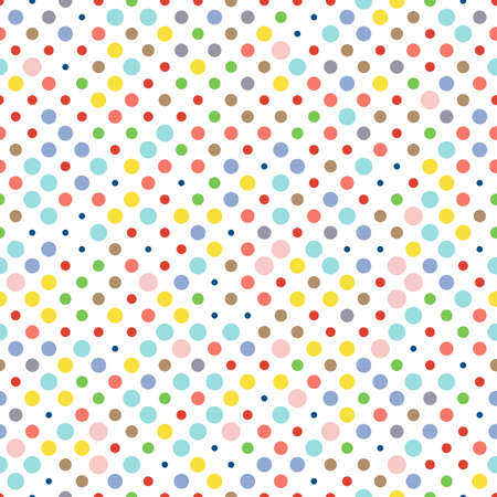 Seamless dotted pattern, polka dot fabric, colors of fashion trends.