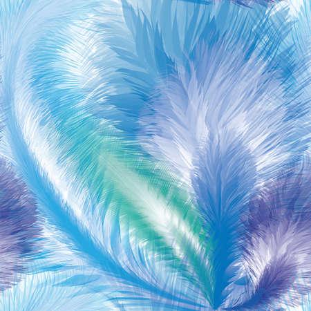 Blue Feathers Seamless Pattern Illustration Ilustrace