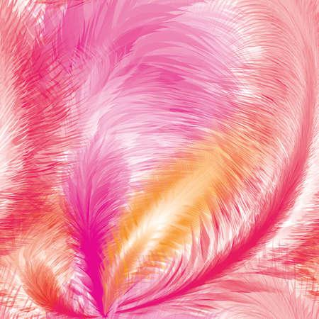 Pink Feathers Seamless Pattern