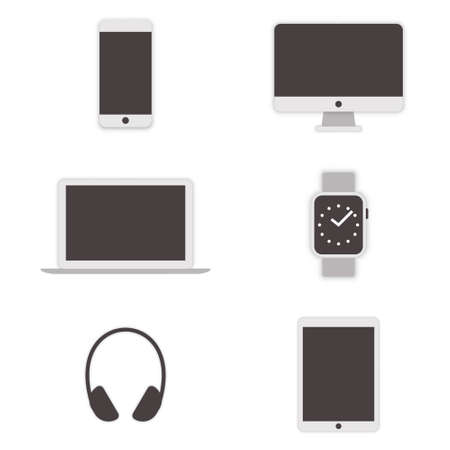 Set of computer icons. Vector illustration