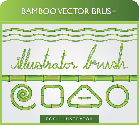 Seamless Bamboo Brush Vector for illustrator in 1 click Иллюстрация