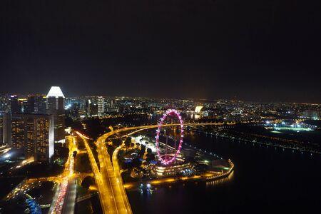 シンガポール航空高から夜景建物 2
