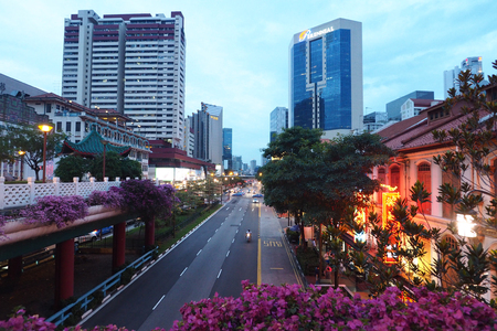 Singapore over street view from china town