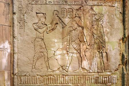 이집트 벽 예술 스톡 콘텐츠