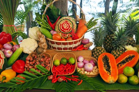 Fruit decorate in thailand