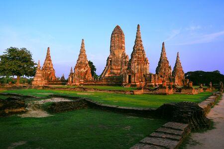 Chaiwattanaram temple in Ayutthaya Historical Park , Thailand Stock Photo