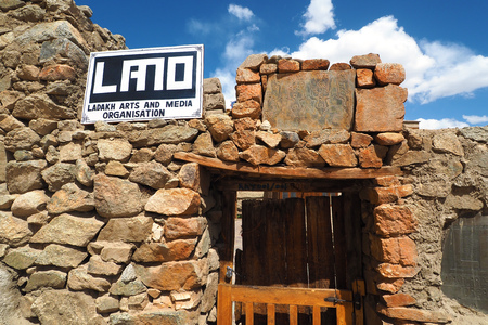 Ladakh Arts and Media Organisation (LAMO) located at Leh Palace, Leh - India Editorial