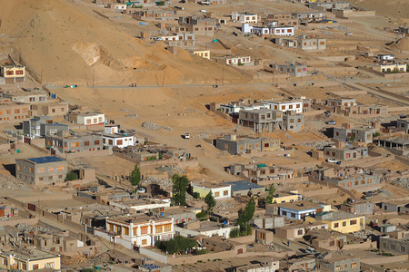 The city of Leh landscape view (telephoto), India