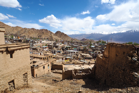 Leh district view from Leh Palace, Leh Ladakh, India