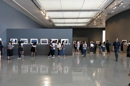 Bangkok Thailand - 26 October 2017: Thai King Rama 9 Photography Exhibition at Bangkok Art and Culture Centre (BACC)