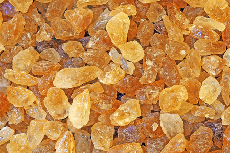 close up brown rock sugar crystal for background texture