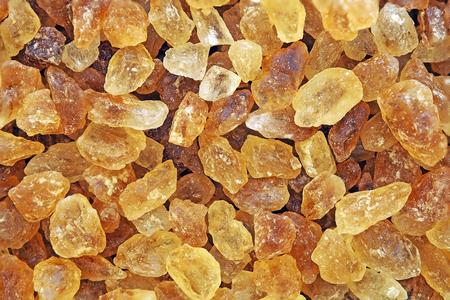 Cierre de cristal de azúcar de roca marrón para textura de fondo Foto de archivo
