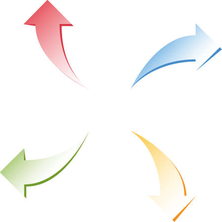 An arrow icon that expresses directing and drawing attention to a certain point in all kinds of visual designs. Vectores