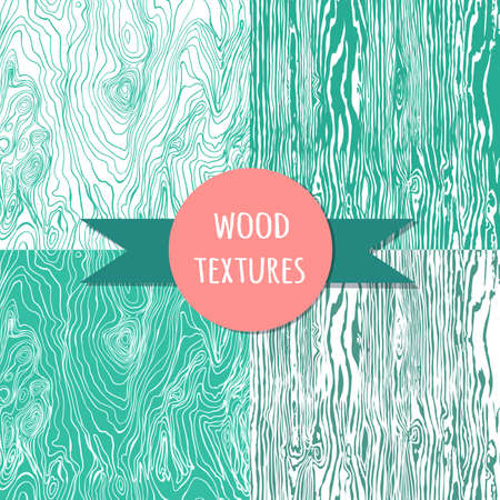 grained: wood texture set. Seampless pattern. Vector eps 10