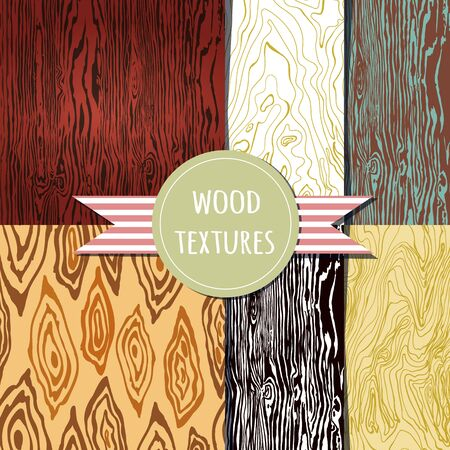 wood texture set. Seamless pattern. Vector eps 10