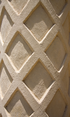 texture of a column with patterns