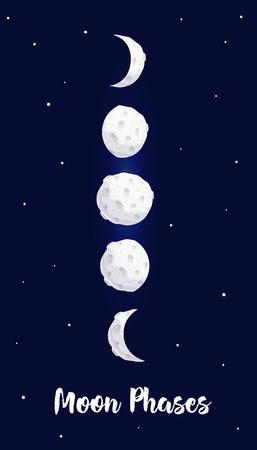 Phases of the moon vector illustration