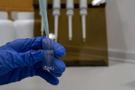 Cuvette tubes are a tool used in various laboratories. The researcher takes them to measure the absorbance, transmittance, fluorescence lifetime of the sample by spectrophotometer.