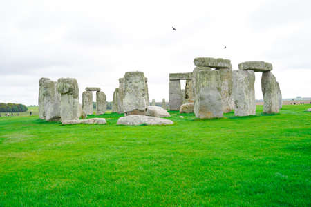 Stonehenge with Blue Sky in the background in England. Sajtókép