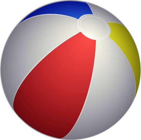 Vector Beach ball Icon. Realistic vector illustration of Beach ball for web design, logo, icon, app, UI. Isolated stock illustration on white.